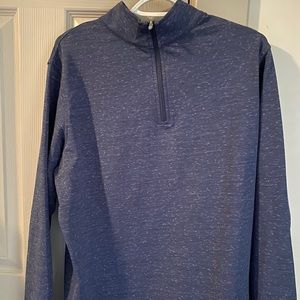 Perth Space Dye Quarter Zip Performance Pullover